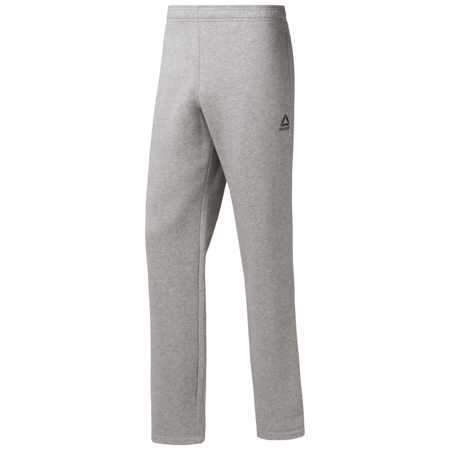 Reebok Essentials Fleece Open Hem Training Pants, Grey