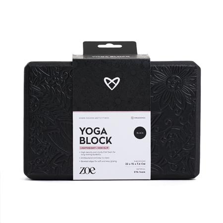 ZOE, Premium Yoga Block, Black