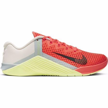 Nike Metcon 6 Women's Training Shoe, Mango/Green/Lemon/Grey
