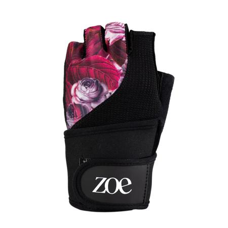 Zoe Floral Fitness Gloves, Purple Jungle
