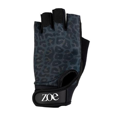 Printed Fitness Gloves, Black Leopard