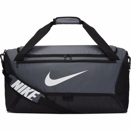 Nike Brasilia (Medium) Training Duffel Bag, Flint Grey/Black/White