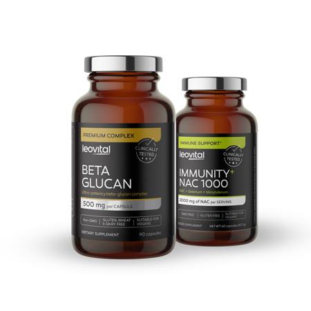 Beta Glucan, 90 kapsul + Immunity, NAC 1000, 60 kapsul GRATIS