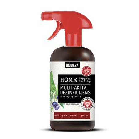 Biobaza Home, Multi-aktiv dezinficijens, kadulja/grožđe, 500 ml