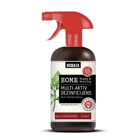 Biobaza Home, Multi-aktiv dezinficijens, menta/eukaliptus, 500 ml