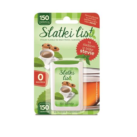 Sladki list Stevia, 150 tablet