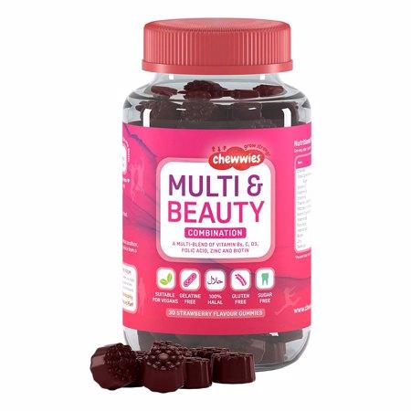 Multi & Beauty, Strawberry, 30 tableta za žvakanje