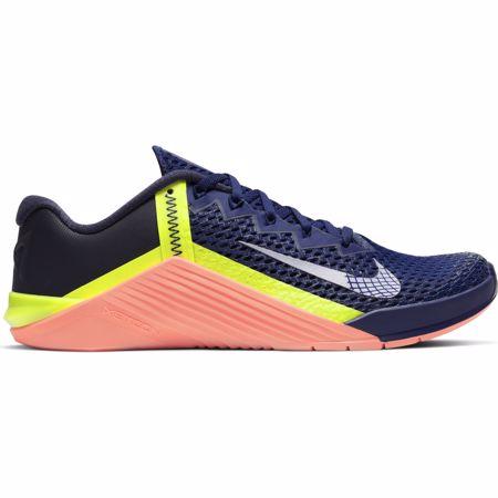 Nike Metcon 6 Training Shoes, Deep Royal/Mango/Metallic Platinum