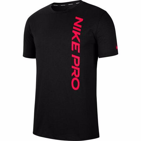Nike Pro Short-Sleeve Top, Black/Bright Crimson