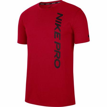Nike Pro Short-Sleeve Top, University Red/Black