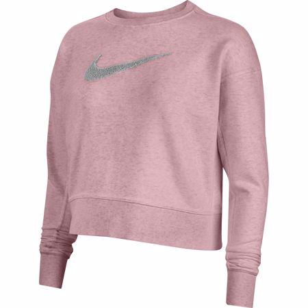 Nike Dri-Fit Get Fit Women's Swoosh Training Crew, Pink Glaze