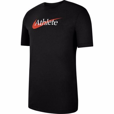Nike Dri-Fit Swoosh Training T-Shirt, Black/Team Orange