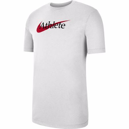 Nike Dri-Fit Swoosh Training T-Shirt, White/University Red