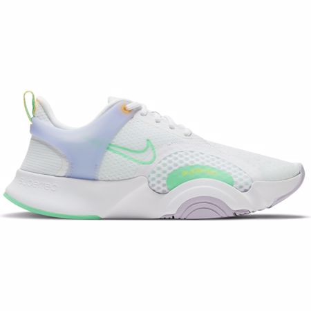 Nike SuperRep GO 2 Women's Shoes, White/Lilac/Green Glow