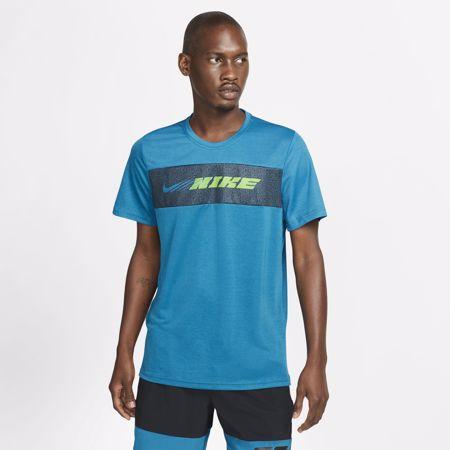 Nike Dri-Fit Superset Sport Clash SS Shirt, Green Abyss/Mean Green
