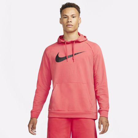 Nike Dri-Fit Swoosh Training Hoodie, Lobster/Black