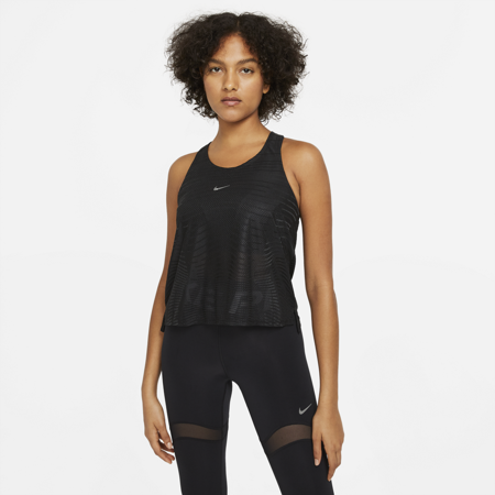 Nike Pro Women's Tank, Black/Dark Smoke Grey/Metallic Silver