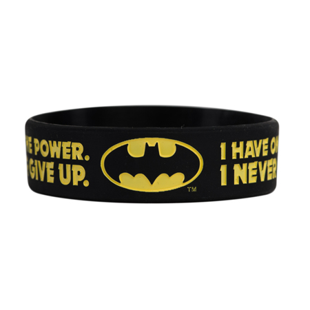 DC Batman, I have one power, I never give up, motivacijska narukvica