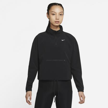 Nike Dri-Fit 1/2 Zip Pockable Women's Jacket, Black/White