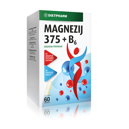 Magnezij 375 + B6, 60 kapsul