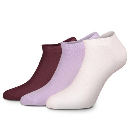Zoe Socks Lounge, Pink/Lilac/Red