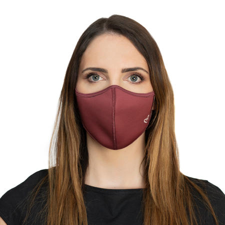 Zoe Face Mask, Red Wine