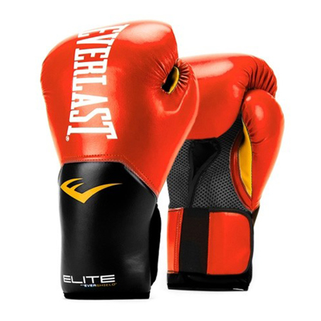 Elite Pro Style Training Gloves, Red