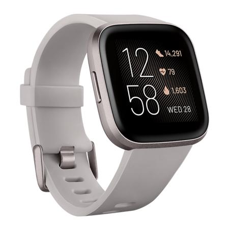 Fitbit Versa 2, Stone/Mist Grey Aluminum