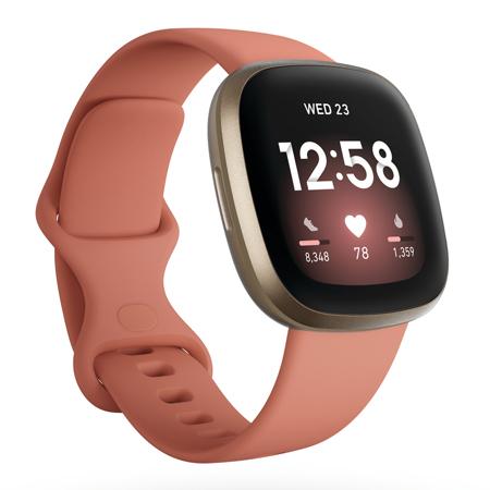 Fitbit Versa 3, Pink Clay/Soft Gold