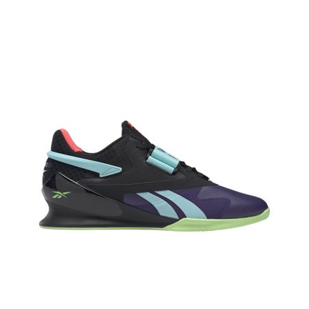 Reebok Crossfit Lifter II Shoes, Dark Orchid/Black/Neon Mint