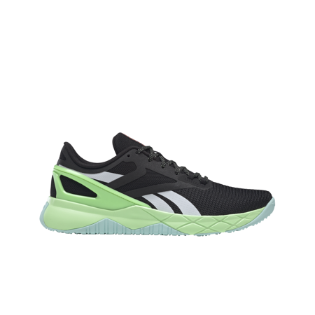 Reebok NanoFlex TR Shoes, Black/Digital Glow/Neon Mint
