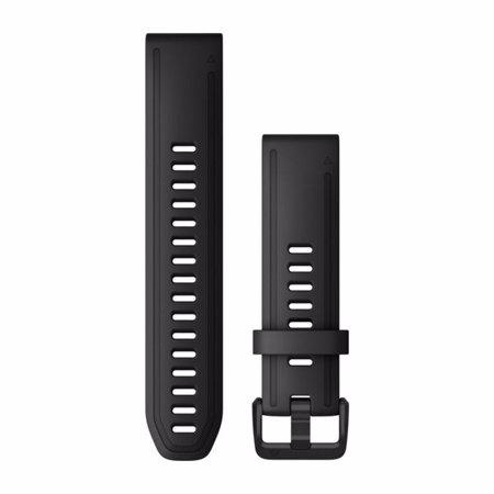 """Garmin Austauscharmband für Fenix 6S, Quick Fit 20"""", Black Silicone"""
