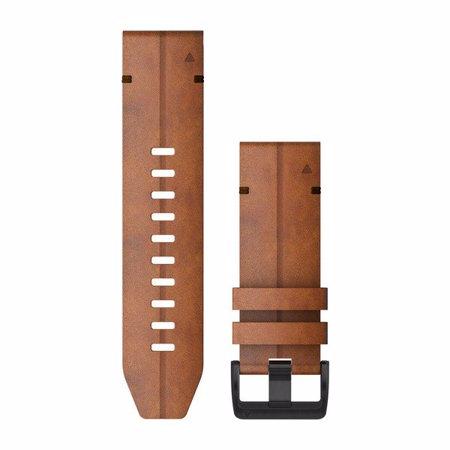 """Garmin zamjenski remen za Fenix 6X, QuickFit 26"""", Chestnut Leather"""
