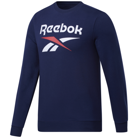 Reebok Identity Big Logo Crew Long Sleeve Shirt, Vector Navy