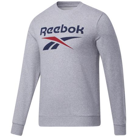 Reebok Identity Big Logo Crew Long Sleeve Shirt, Medium Grey Heather