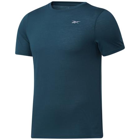 Reebok Run Essentials Speedwick Graphic Short Sleeve Shirt, Forest Green
