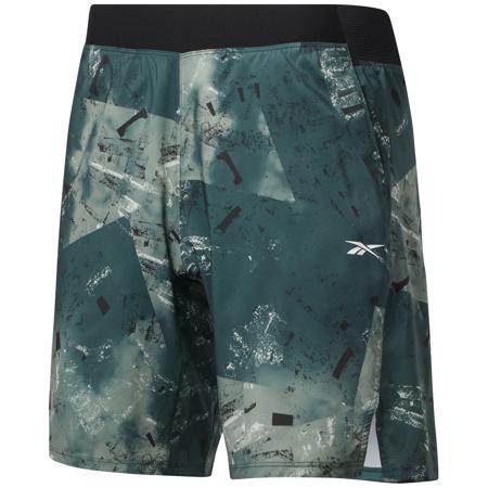 Reebok Epic Lightweight AOP Shorts, Forest Green