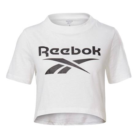 Reebok Identity Crop SS Shirt, White/Black