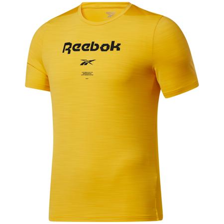 Reebok Activchill Graphic Move Short Sleeve Shirt, Semi Solar Gold