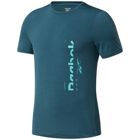 Reebok Activchill Graphic Move Short Sleeve Shirt, Midnight Pine