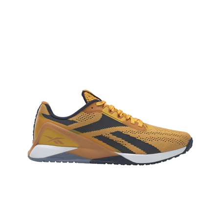 Reebok Nano X1 Shoes, Gold/Radiant Ocher/Navy
