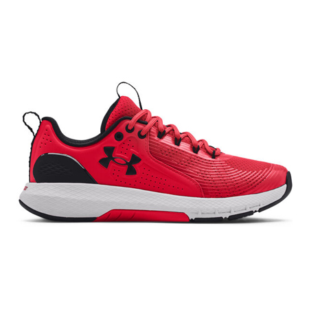 UA Charged Commit TR 3 Shoes, Red/Halo Grey