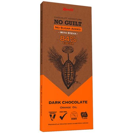 """Kandit Dark """"No sugar added"""" Chocolate, 80 g"""