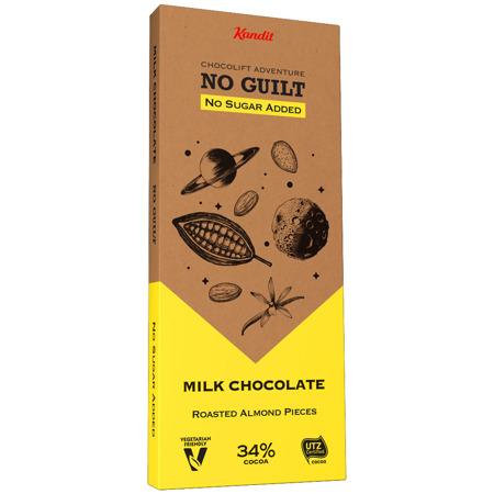 "Kandit Almond ""No sugar added"" Chocolate, 80 g"