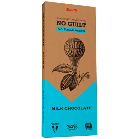 """Kandit Milk """"No sugar added"""" Chocolate, 80 g"""