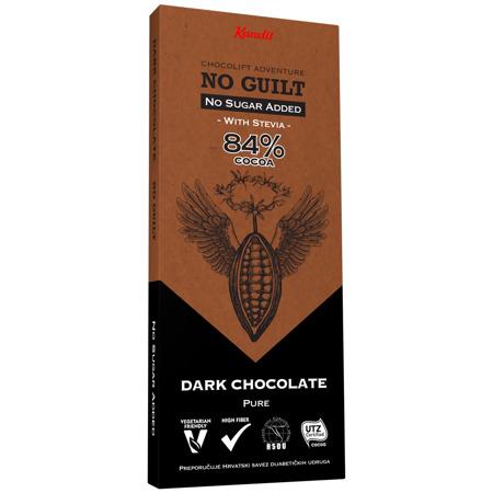 "Kandit Pure Dark ""No sugar added"" Chocolate, 80 g"