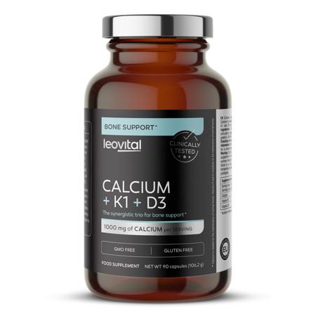 Calcium + K1 + D3, 90 kapsul