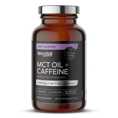 MCT Oil + Caffeine, 90 kapsul