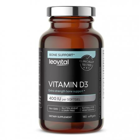 Vitamin D3, 180 kapsul