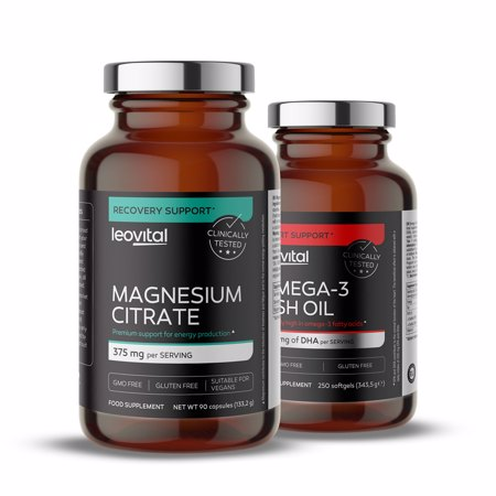 Magnesium Citrate, 90 Kapseln + Omega 3, 90 Softgel Kapseln GRATIS